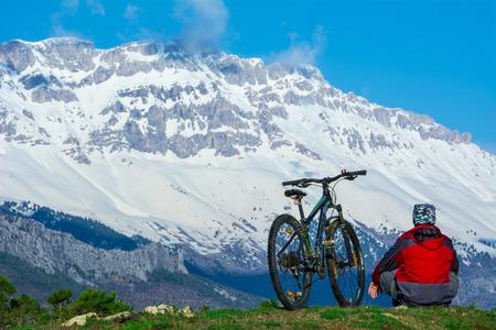 自転車発見ツアー 写真素材