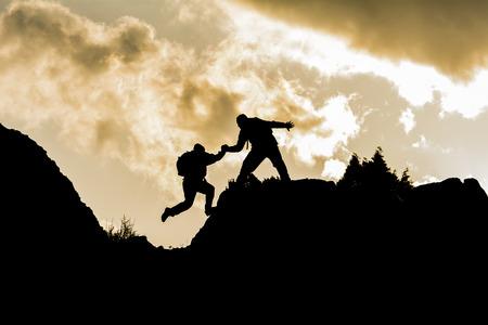 klimmen helper Stockfoto