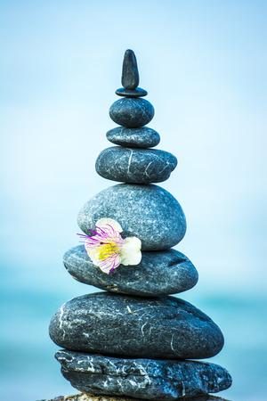 zen steine: zen stones and coast