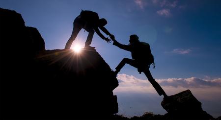 bergbeklimmen piek activiteit Stockfoto