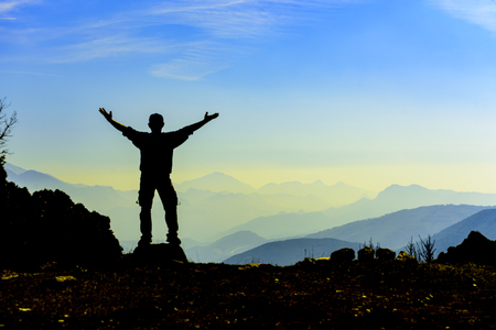 success at the summit of the mountain happiness