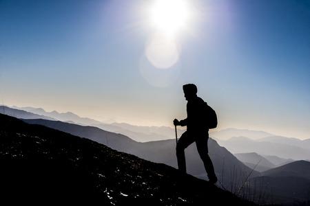 to step into success Foto de archivo