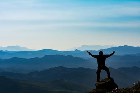 průzkum dobrodružství v horách Reklamní fotografie