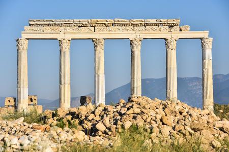 entranceway: Laodikeia column Stock Photo