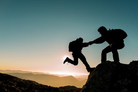 peak climbing assistance and support Archivio Fotografico