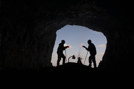 sensations: tea in cave