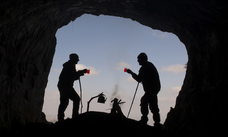 sensations: drink tea and chat in a cave