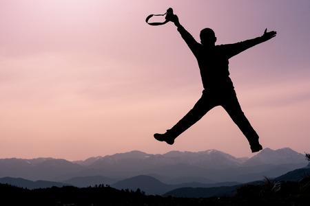 photographer bouncing Reklamní fotografie