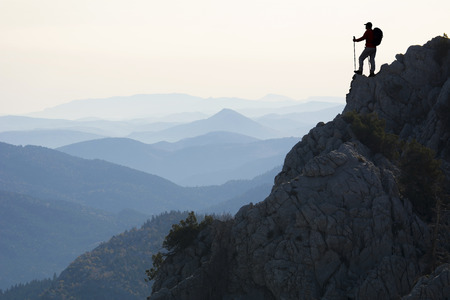 resolute and determined climbers