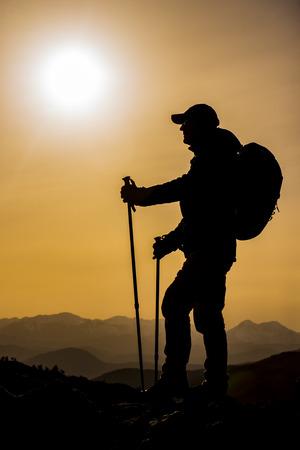 steadfast: adventurer mountaineer silhouette