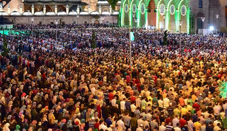 crowded praying community
