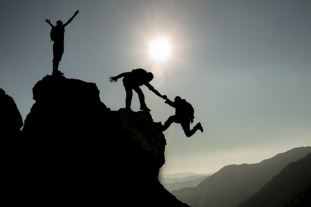 successful climbing team