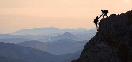 山の範囲とピークの情熱 写真素材