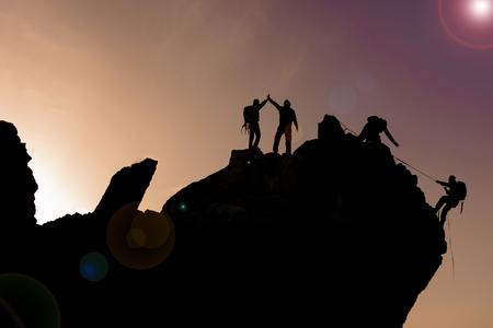 dangerous love: summit cliffs climbing team