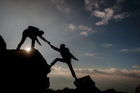 steadfast: & climbers silhouette sport climbing