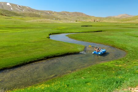meanders in mountainous areas & inflatable boat trip