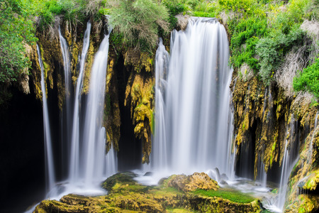 the concept of a natural waterfall Stock Photo