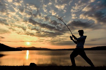 fisherman silhouette fisherman &
