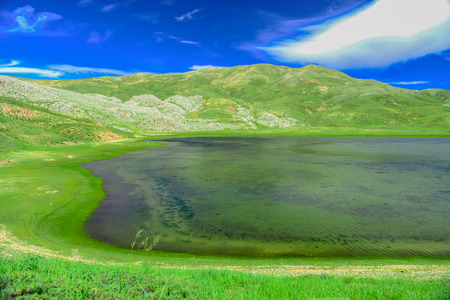 crater lakes in the highlands Stock Photo