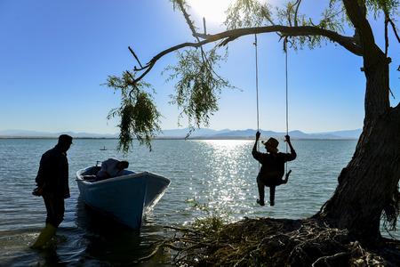 joyful, peaceful and happy fishing