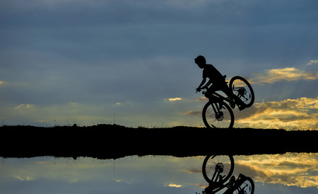 reflection: cyclists reflection