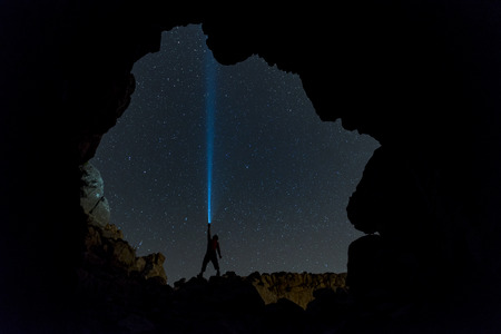exposicion: Perseid constellation exposure exposure & stars Foto de archivo