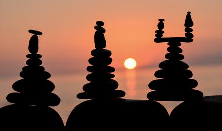 energy needs: zen stones concept Stock Photo