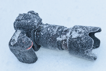 durability testing in winter conditions; professional camera & dSLR machine