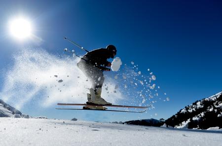 Crazy skier