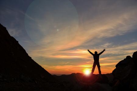 day positivity, peace, health and energy Sunrise