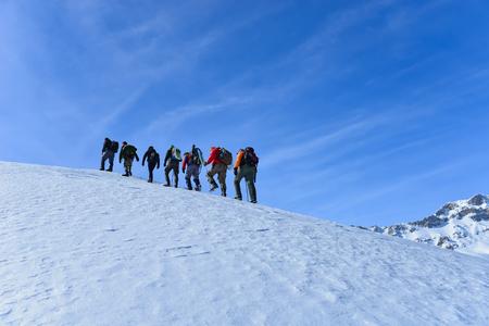 Walking steep peaks