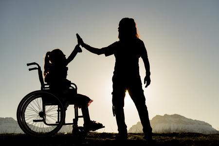 farther: dad & girl & disabled & motivation