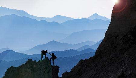 mountain ranges and peak climbing