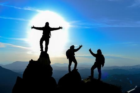 Succesvolle mensen en ijverig team
