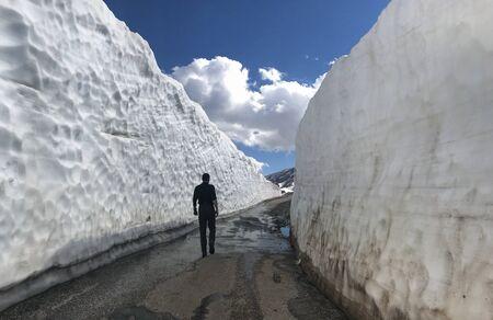 Opening spring seasonal highway roads