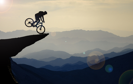 bike rides in unusual places Stock Photo