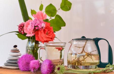 purple thorn flower tea natural