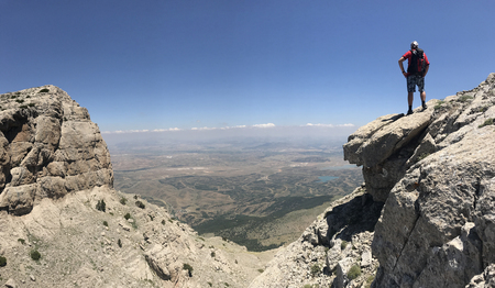 look at the town from the high mountains