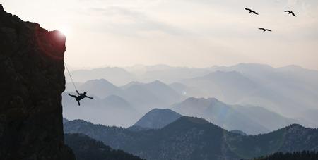 adventurous and free climber