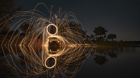 example of long exposure photography Stock Photo