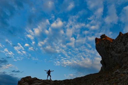 poczuć przyjemność z gór Zdjęcie Seryjne