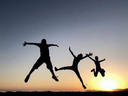 Energieke en gezonde jonge mensen Stockfoto