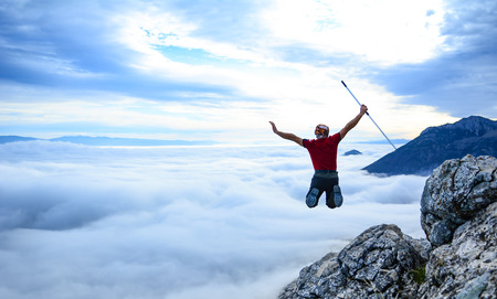 Be energetic in foggy mountains
