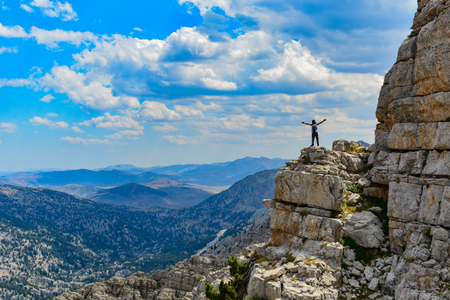 happiness in endless mountains Stock Photo