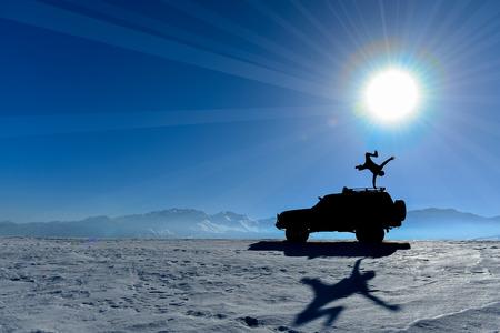 power, balance and motivation Banque d'images