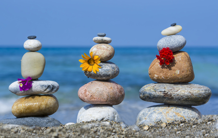 energy needs: zen stones and their therapeutic effects Stock Photo