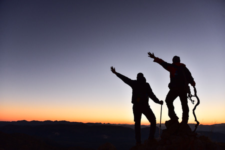 ambitious: successful peak climb