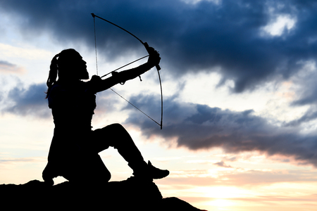 archer & man scouting arrow