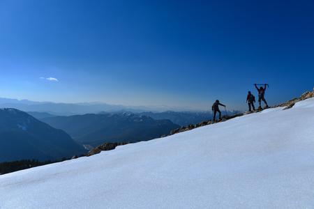 Enormous and insurmountable mountain Stock Photo