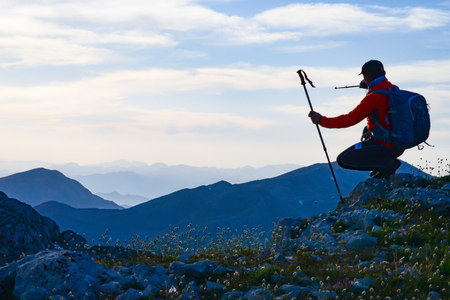 trips to mountain ranges and unusual places Stock Photo - 90411113